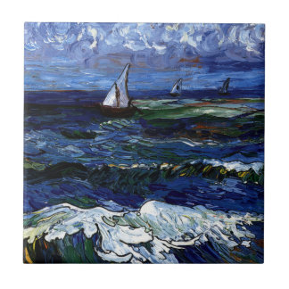 Tre segelbåtar kakelplatta