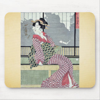 Tre skönhetar som tycker om coolan vid Kikukawa, E Musmattor