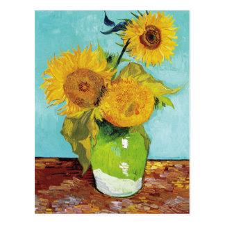 Tre solrosor | Vincent Van Gogh Vykort