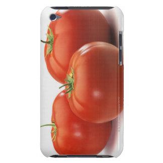 Tre tomater kontrar på, närbilden iPod Case-Mate cases