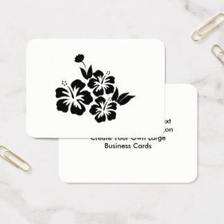 Tre tropiska blommor för svart hibiskus visitkort