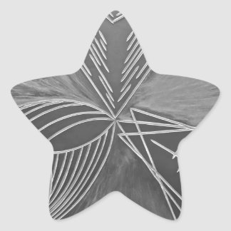 Tre väg stjärnformat klistermärke