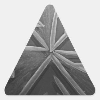 Tre väg triangelformat klistermärke