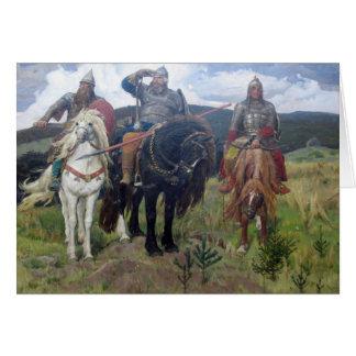 Tre Viking spanar Hälsningskort