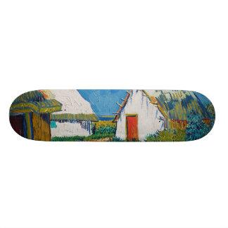 Tre vitstugor i Saintes-Maries av Vincent Mini Skateboard Bräda 18,7 Cm