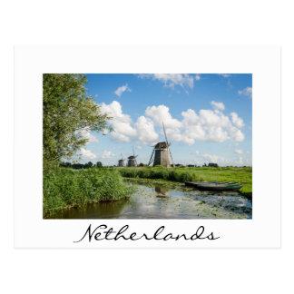 Tre windmills och en kanalvitvykort vykort