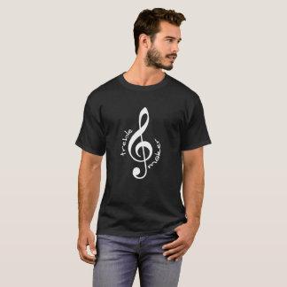 Trebletillverkaremanar mörk skjorta för T Tee Shirts
