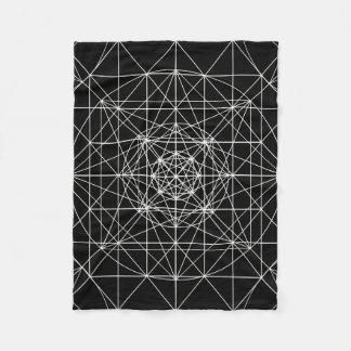 Tredje dimensionella/Crystal tempelheliggeometri Fleecefilt