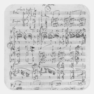 Tredje Sonata för piano och fiol Fyrkantigt Klistermärke