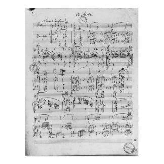 Tredje Sonata för piano och fiol Vykort