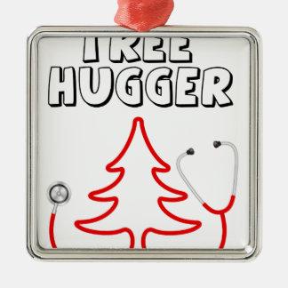Tree hugger julgransprydnad metall