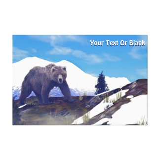 Treeline Grizzly Canvastryck