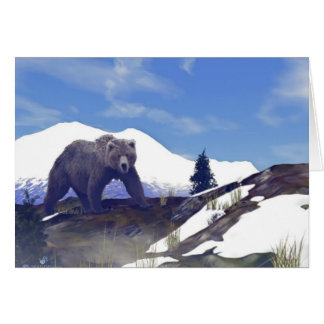 Treeline Grizzly Hälsningskort
