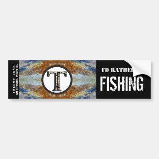 Treemo natur personifierad riklig etikettsfisk bildekal