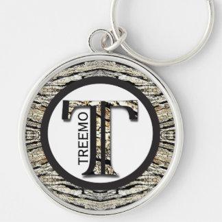 Treemo utrustar Camo Keychain - personifiera den! Rund Silverfärgad Nyckelring