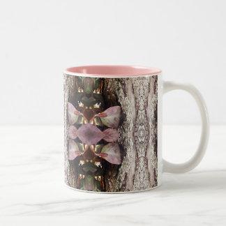 Treemo utrustar den rosa muggen för kaffe för Två-Tonad mugg
