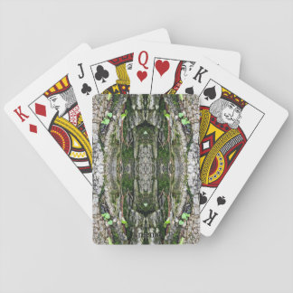 Treemo utrustar nya början Camo som leker kort Spel Kort