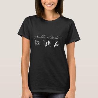 Trefaldig färgad hottshirtmörk t-shirt