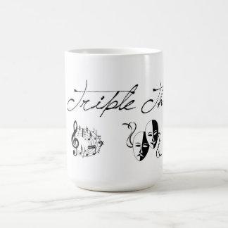 Trefaldig hotmugg kaffemugg