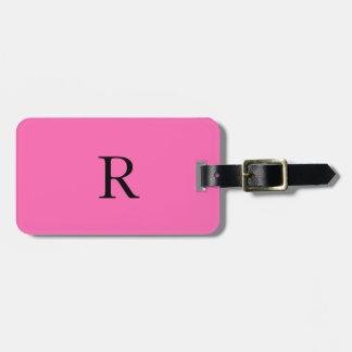 Trendig för svart för shock rosa för bagagebricka