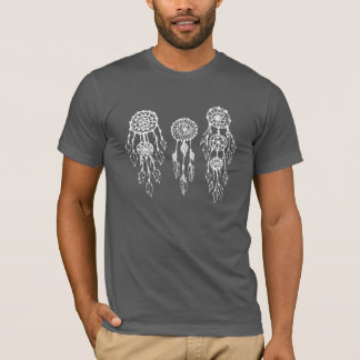 Trendig illustrerade bohemiska Dreamcatchers Tee