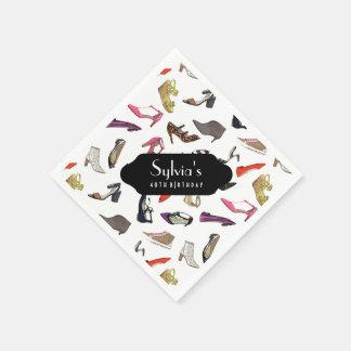 Trendiget skor pappra servetter