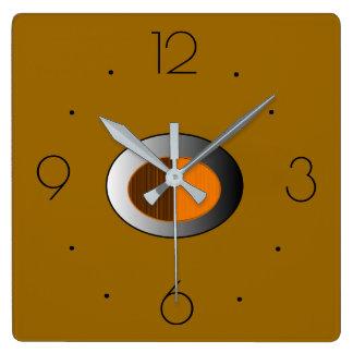 Trendigsolbrännan med silvercentre>kök tar tid på fyrkantig klocka