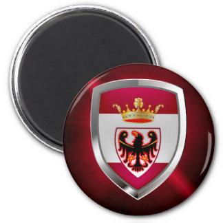 Trento Mettalic Emblem Magnet Rund 5.7 Cm