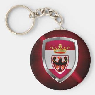 Trento Mettalic Emblem Rund Nyckelring