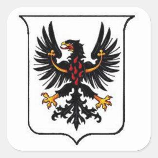 Trento vapensköld fyrkantigt klistermärke