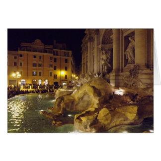 Trevi-fontän, Rome, italien Hälsningskort