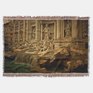 Trevi-fontän som målar Rome Filt