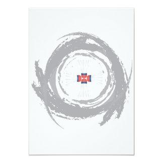 Trevlig BadmintoncirkulärGrunge 12,7 X 17,8 Cm Inbjudningskort