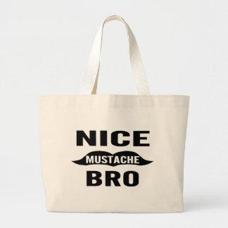 Trevlig mustasch Bro Jumbo Tygkasse