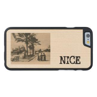 Trevlig promenad vid strandkopiavykortet carved lönn iPhone 6 skal