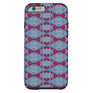 Trevliga blått och rött motiv tough iPhone 6 skal