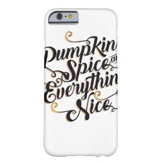 Trevliga pumpakrydda & allt barely there iPhone 6 fodral