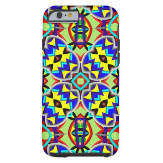 Trevligt färgrikt abstrakt mönster tough iPhone 6 case