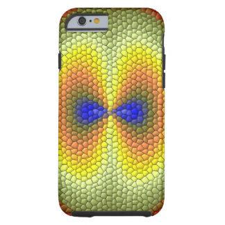 Trevligt färgrikt belägger med tegel mönster tough iPhone 6 skal