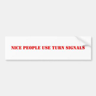 Trevligt folk användablinkers bildekal