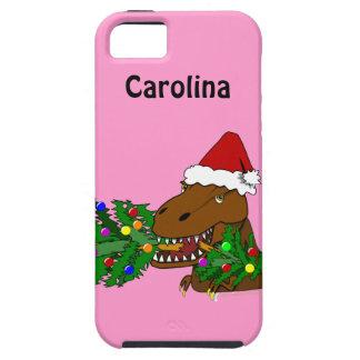 Trex Dinosaur som äter julgraniphone 5 iPhone 5 Case-Mate Skydd