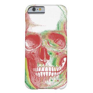 Tri-färg Rasta skalle Barely There iPhone 6 Skal