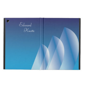 Tri-Segla den genomskinliga blå himmelpersonligen iPad Air Skydd