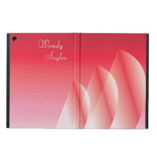 Tri-Segla genomskinligt scarlet seglar personlig Fodral För iPad Air