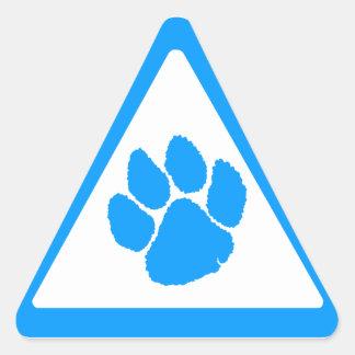 Triangel för klo för tiger för Corey tiger80-tal Triangelformat Klistermärke