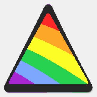Triangel för regnbåge för Corey tiger80-tal Triangle Stickers