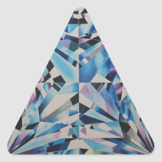 Triangelklistermärkear, glansigt som är lilla, 1 triangelformat klistermärke