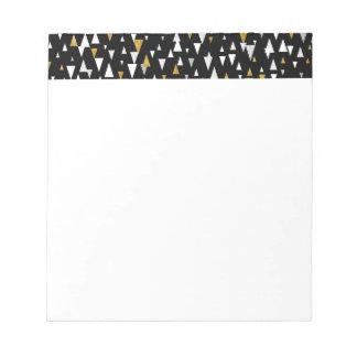 Triangelmodern konst - svart guld anteckningsblock