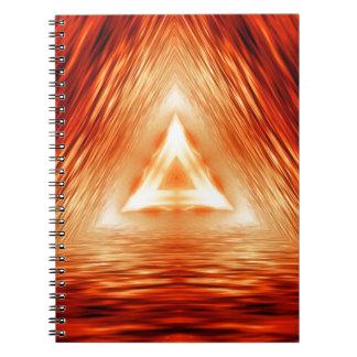 Trianglar av avfyrar anteckningsbok