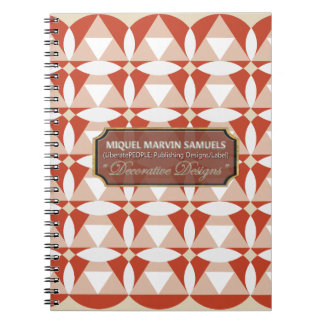 Trianglar cirklar blommar lagar mat med grädde anteckningsbok med spiral